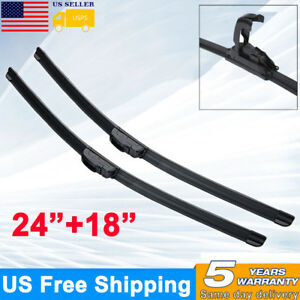 24 18 All Season Premium Oem Bracketless Windshield Wiper Blades J Hook Usa