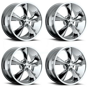 4 New 17 Foose Legend F105 Wheels 17x8 5x4 5 1 Chrome Rims