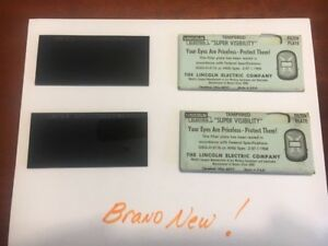 Vintage Lincoln Welding Super Visibility 9 Shade filter Lens Brand New