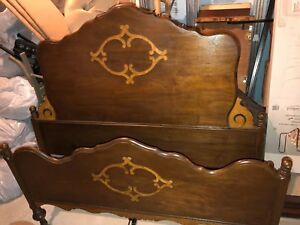Beautiful Depression Era Full Bed Headboard And Footboard