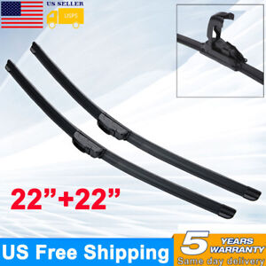 22 22 Inch Bracketless J hook Windshield Wiper Blades Oem Quality Premium Us