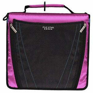 New Five Star 2 Inch Zipper Binder Expanding Pocket Durable Purple 73303