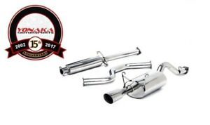 Yonaka 96 00 Honda Civic Ek Performance Catback Exhaust 2dr Coupe Quiet Muffler