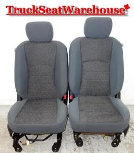 Dodge Ram 2015 Gray Cloth Front Truck Seats Power