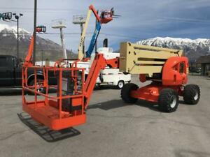Aerial Telescopic Boom Lift 06 Jlg 450aj 4x4 45 Articulated Diesel Jib Manlift