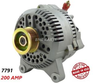 200 Amp 7791 Alternator Ford Lincoln New High Output Performance Hd Made In Usa