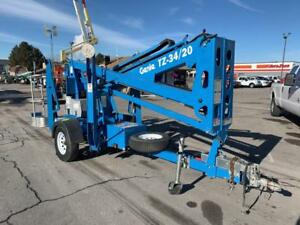 Tow Behind Articulated Aerial Boom Lift Manlift 2014 Genie T34 20 34 Electric