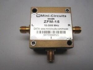 Mini circuits Zfm 15 Frequency Mixer 10mhz 3ghz 50 Ohm Sma f