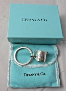 Tiffany Co Sterling Silver Measuring Cup Key Ring Pouch Box Very Rare Unused