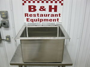 Stainless Steel Heavy Duty Drop In Hand Sink W 20 X 16 X 14 Bowl