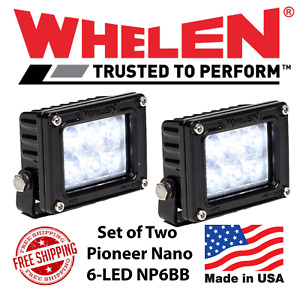 Whelen Pioneer Nano Black 6 Led Spot Flood Lights Np6bb Set Of 2