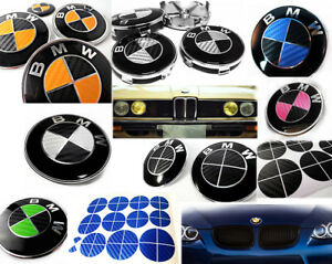 Bmw Carbon Fiber Sticker Overlay For Emblems Complete Set Decal Multi Selection