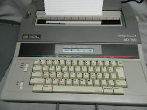 Smith Corona Electric Typewriter Model Sd 750 Spell Right Dictionary
