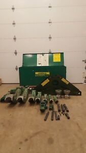 Greenlee 885 Rigid Bender 1 1 4 To 5 With 1802 Bending Table And Electric Pump