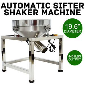 19 6 Electric Stainless Steel Vibrating Sieve Machine Automatic Sifter Shaker