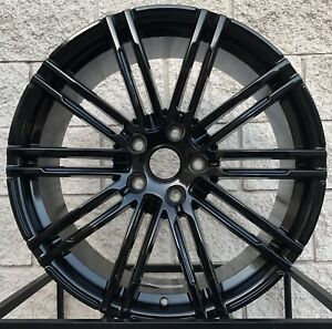 20 Porsche Cayenne Wheels And Tires Turbo Ii Gts Rims Glossy Black