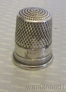 Antique Simons Bros Sterling Silver Thimble 10 Fine Ribbed Band