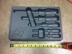 Snap On Tools Pakty214 5 Pc Screwdriver Storage Tray Brand New
