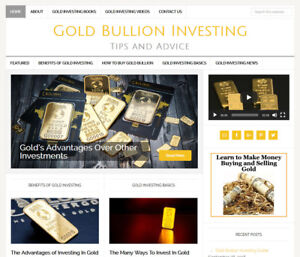 Gold Investing Affiliate Website Business For Sale W Auto Updating Content