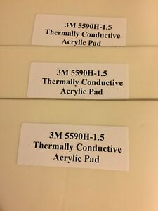 3m 5590h 1 5mm X 9 5 X 11 75 Sheet Thermally Conductive Acrylic Tape