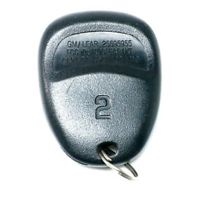 Oem 01 04 Corvette Keyless Entry Remote Key Fob Transmitter 25695955 Driver 2