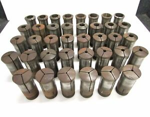 Set Of 38 Hardinge 215 Round Collets 1 8 To 1 3 4