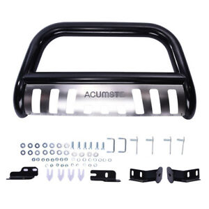 Matte Bull Bar Push Bumper Grill Grille Guard Ss For 04 18 Ford F150 Expedition