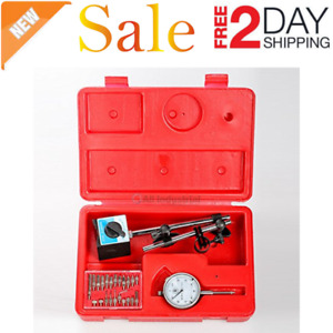 Dial Indicator Set Test 001 With On Off Magnetic Base Supply Magnetic New