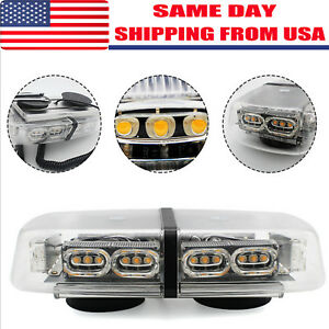 36 Leds Light Bar Roof Top Emergency Beacon Warning Flash Strobe Yellow Amber 1w