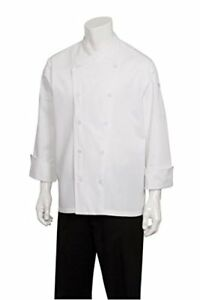 New Chef Works Men s St Maarten Chef Coat White X small Free2dayship Taxfree