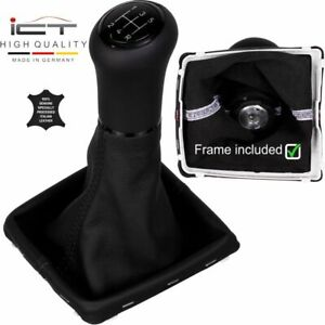 Leather Black Ict Gear Shift Knob Gaiter Boot Ford Focus Mk2 Ii Frame A74