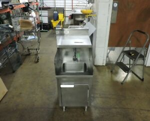 Commercial Stainless Steel 1 compartment Sink W Electric Faucet