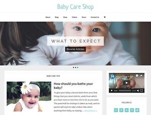new Design Baby Care Store Blog Website Business For Sale Auto Content