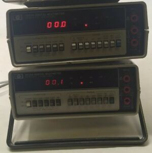 Lot Of 4 Hp Agilent Keysight 3435a Digital Multimeter Sl
