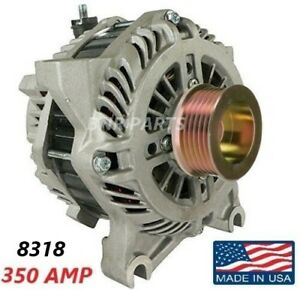 350 Amp 8318 Alternator Ford Lincoln High Output Performance Hd New Usa