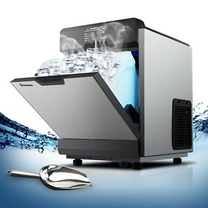 Ice Machine Commercial Ice Maker Machine Auto Clean Portable 121lbs 24h