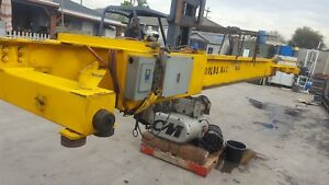 Overhead Bridge Crane 3 Ton Cap Cm Motorized Trolley And Span Beam 23 6