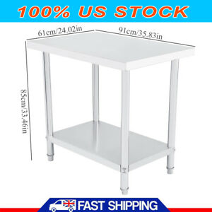24 X 36 Stainless Steel Work Prep Table Commercial Kitchen Restaurant 91x61cm