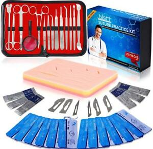 Complete Suture Practice Kit For Medical Student Training Including Large Sil