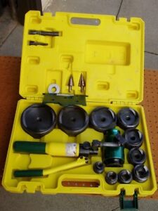 L h Dottie Hptk2 12 Ton Hydraulic Punch Set 1 2 To 4 Knock Out Decent Cond