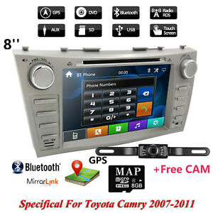 Indash Gps Car Stereo Dvd Player Radio For Toyota Camry 2007 2008 2009 2010 2011