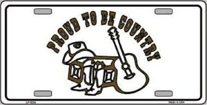 Proud To Be Country Metal Novelty License Plate Tag