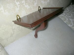 Rare Williamsburg Don Works Five Forks Cabinet Shop Queen Anne Bracket Shelf