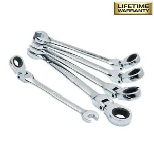 Husky Sae Flex Ratcheting Combination Wrench Set 5 piece