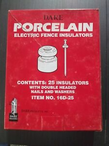 3 dare Nail On Wood Post Porcelain Electric Wire Fence Insulator 25 pk 16d 25