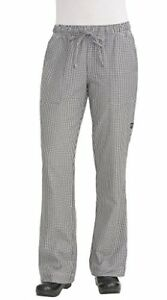 New Chef Works Women s Chef Pants Small Check 2x large Free2dayship Taxfree