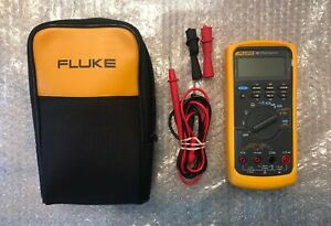 Fluke 787 Processmeter Multimeter With Test Leads Case Mint Condition