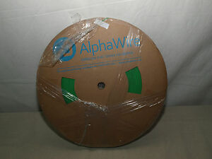 Alpha Wire Fit 221 Irradiated Polyolefin Heat Shrink Tubing Green1000ft 1 16 New