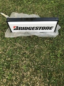 Nos Bridgestone Tire Advertisement Sign Double Sided Lighted Electric Hang