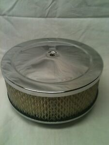 6 3 8 Chrome Air Cleaner Kit 2 5 Tall Filter Breather Tunnel Ram 2x4 Dual Quad